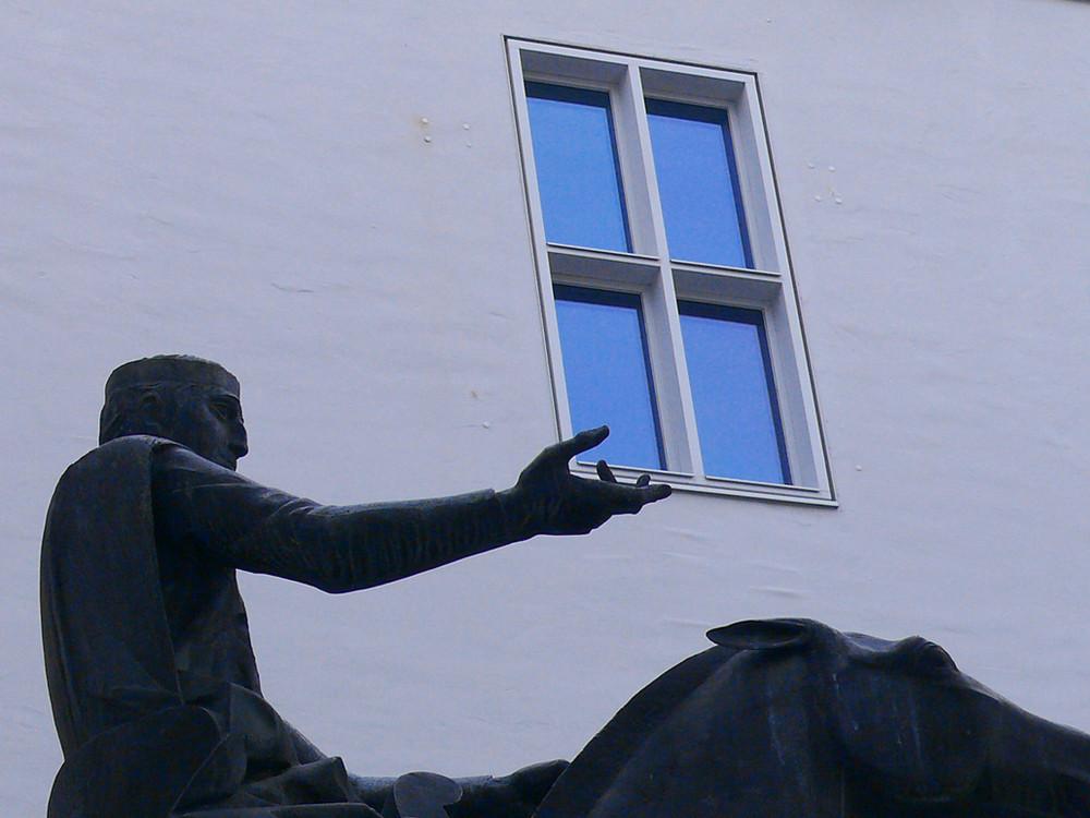 Reiter und Fenster