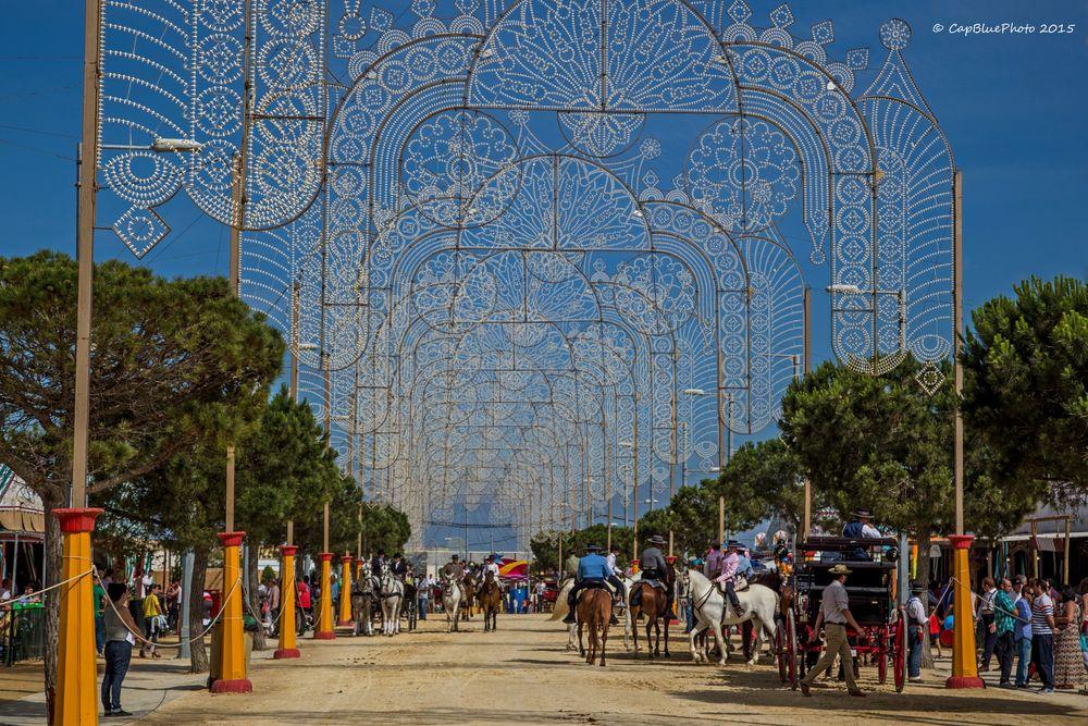 Reiterparcour bei der Feria in Chiclana
