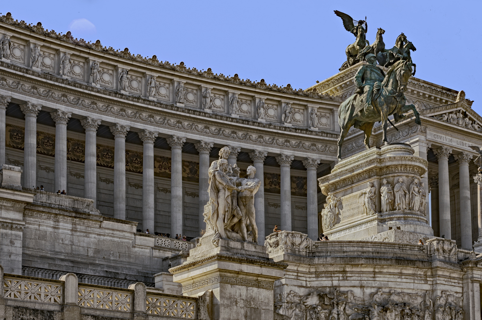 Reiterstatue von Viktor Emanuel II. Roma