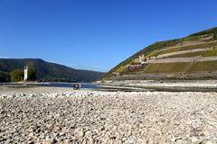 Rekord-Niedrigwasser am Rhein