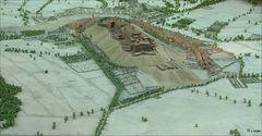 Reliefplan der Zitadelle von Bitsch