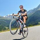 Rennrad-Wheele - kurz vor der Paßhöhe