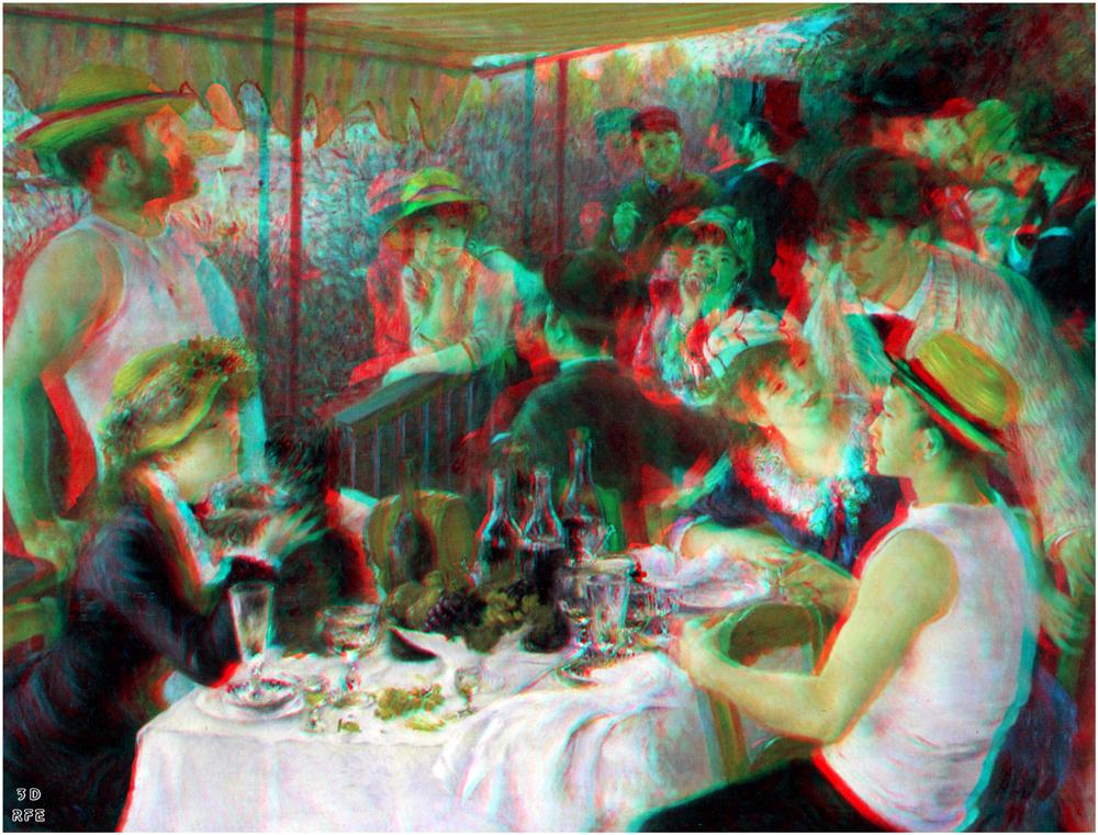 Renoir: Das Frühstück der Ruderer (3D+MPO-Link)