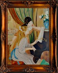 Renoir, Pierre-Auguste : Zwei Mädchen am Klavier