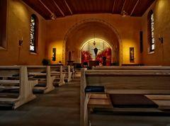 Renovierte Kirche Gstaad