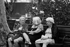Rentnerbank der Frau