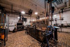 Reparaturwerkstatt in Weberei des Textilwerk Bocholt