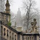 Residenz Hofgarten in Winter Mists, Würzburg
