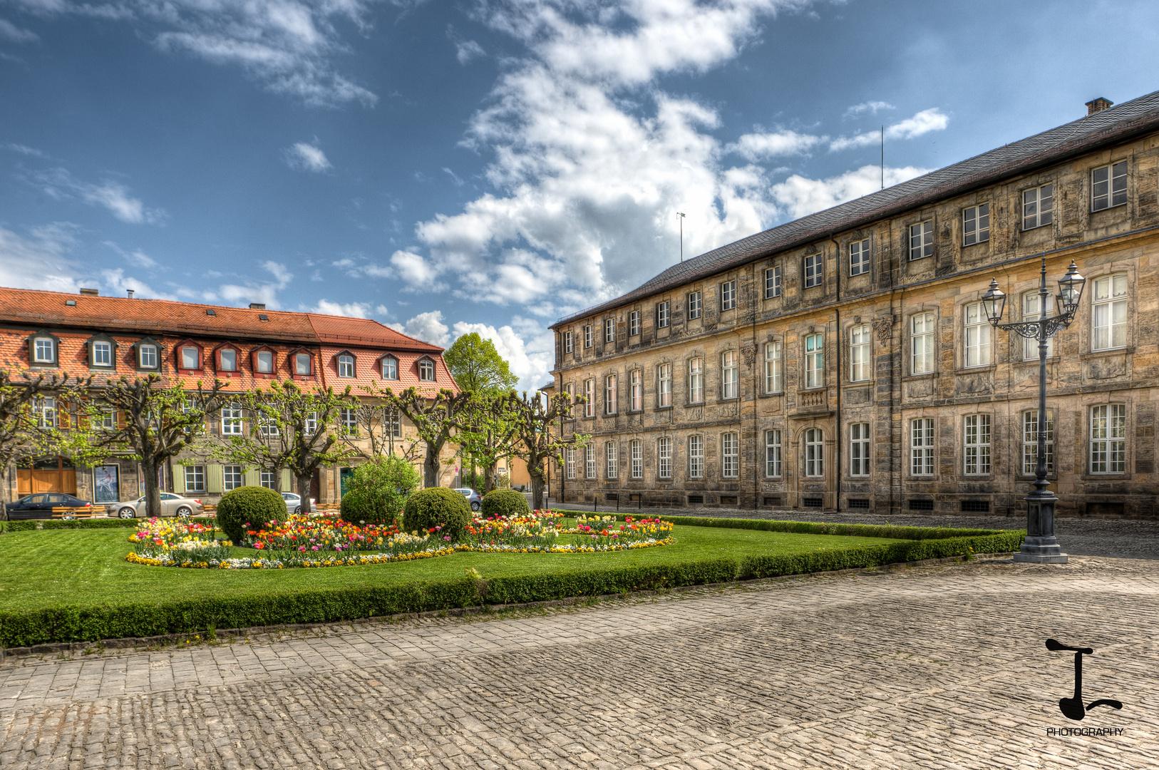 Residenzplatz vor dem Hofgarten Bayreuth