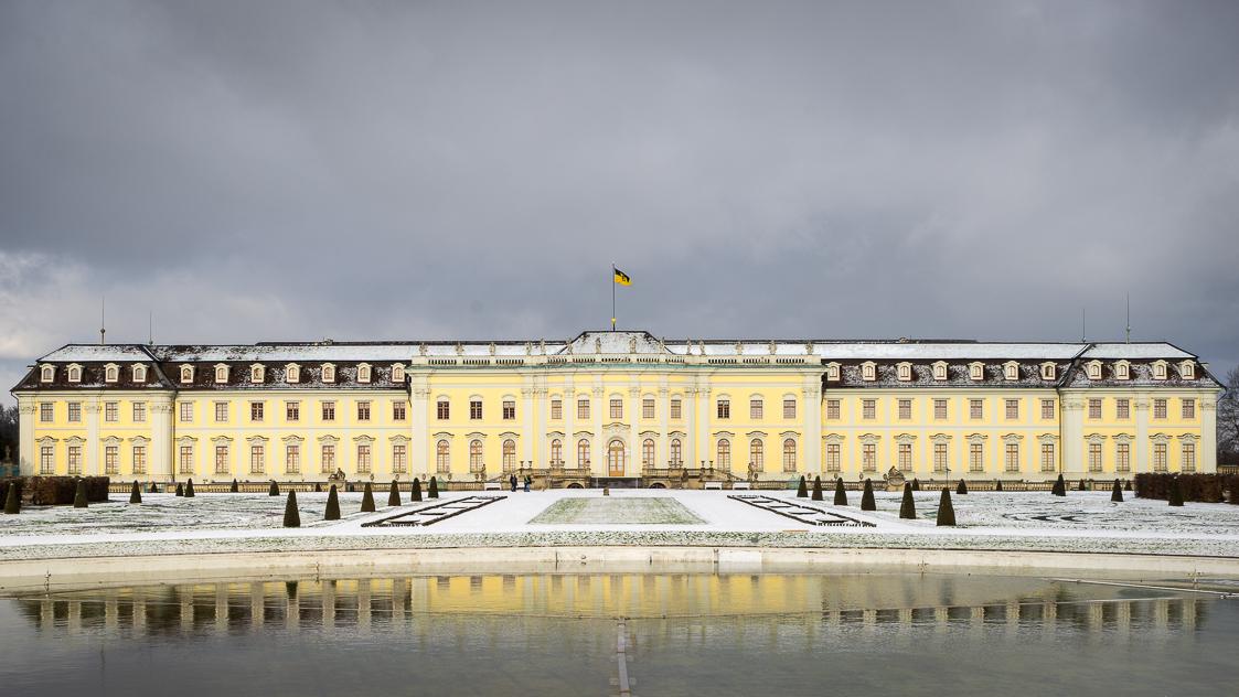 residenzschloss ludwigsburg bei kälte