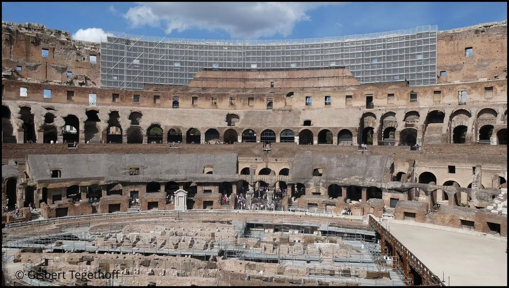 Restaurierungs im  Kolosseum