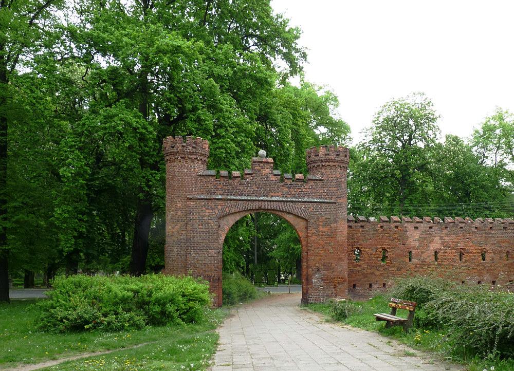 Reste einer Stadtumfriedung in Stubice / Polen