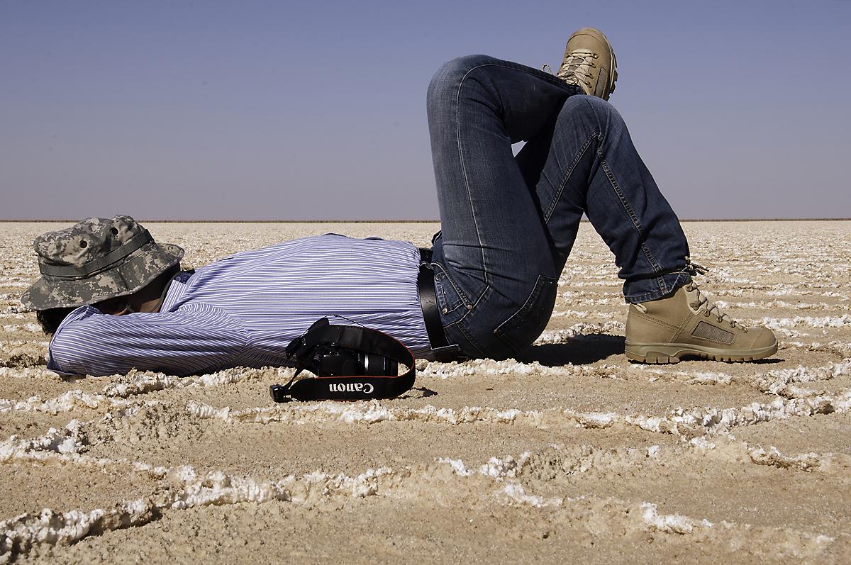 Resting in the salt lake
