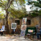 Retratistas en la isla de Rodas