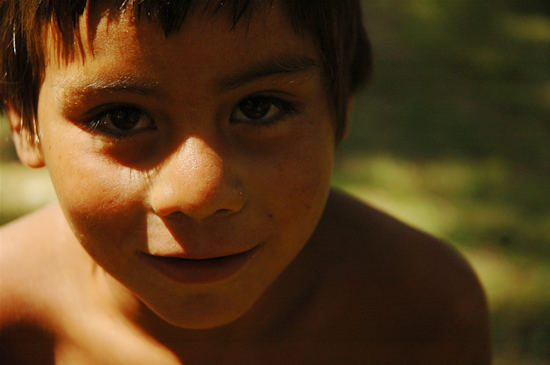 Retrato de niño del Chicamtoltlina