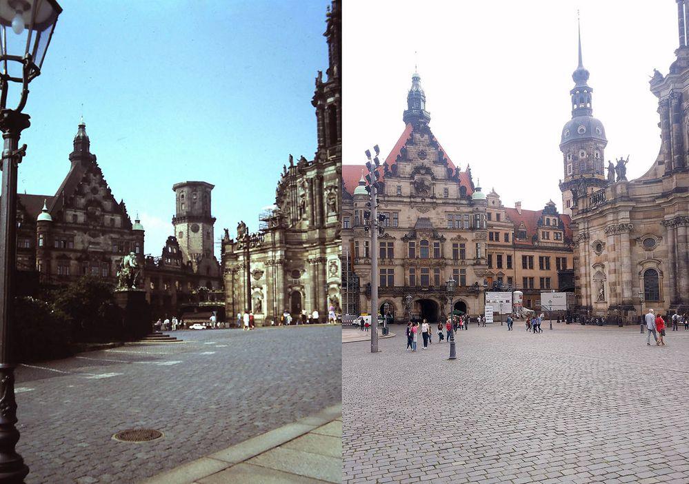 Retrospektive IV: Schlossplatz Dresden 1984 und 2015