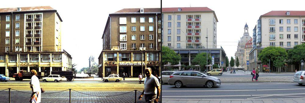 Retrospektive: Wilsdruffer Straße 1982 und 2015