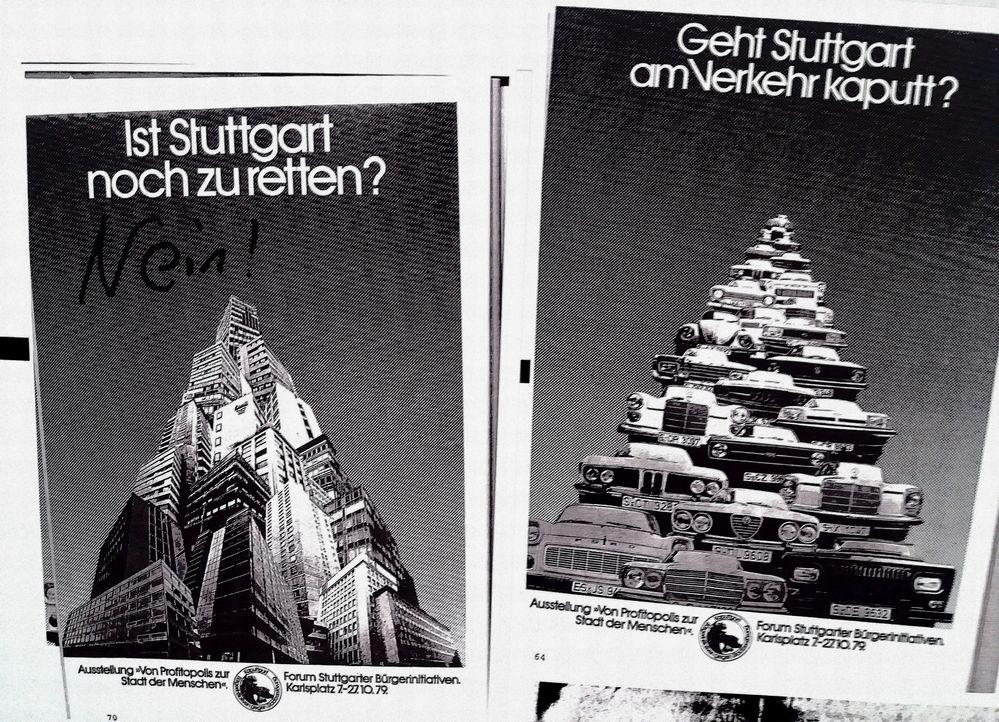 Rettet Stgt VERKEHR Plakat 1979
