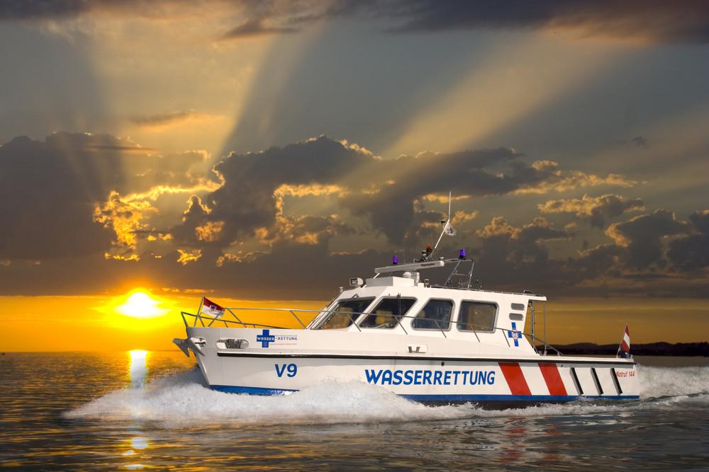Rettungsboot auf dem Bodensee