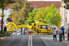 Rettungshubschrauber in Plauen