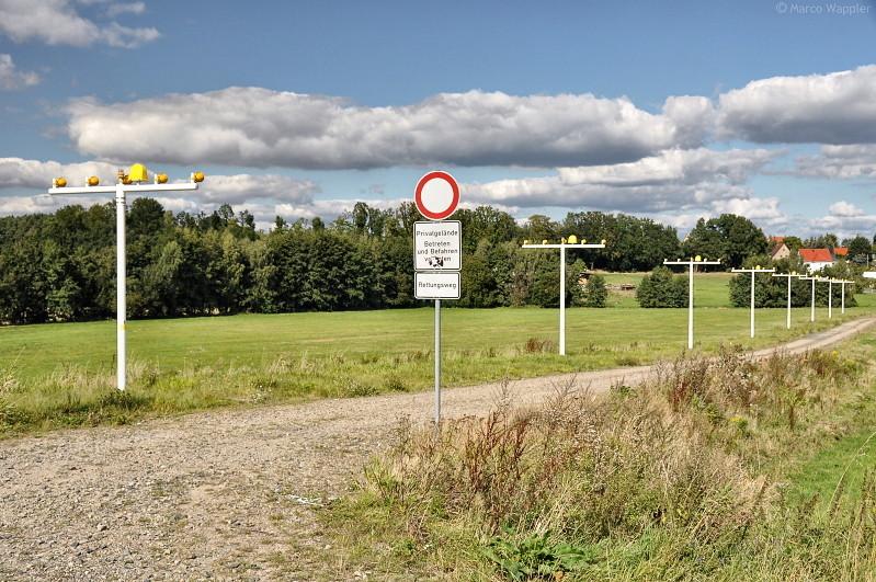 Rettungsweg Flughafen Dresden