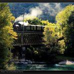 Rhätische Bahn Classic Steam Train at Reichenau