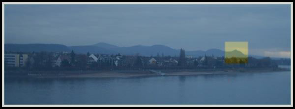 Rhein in Bonn, 19.11.2003