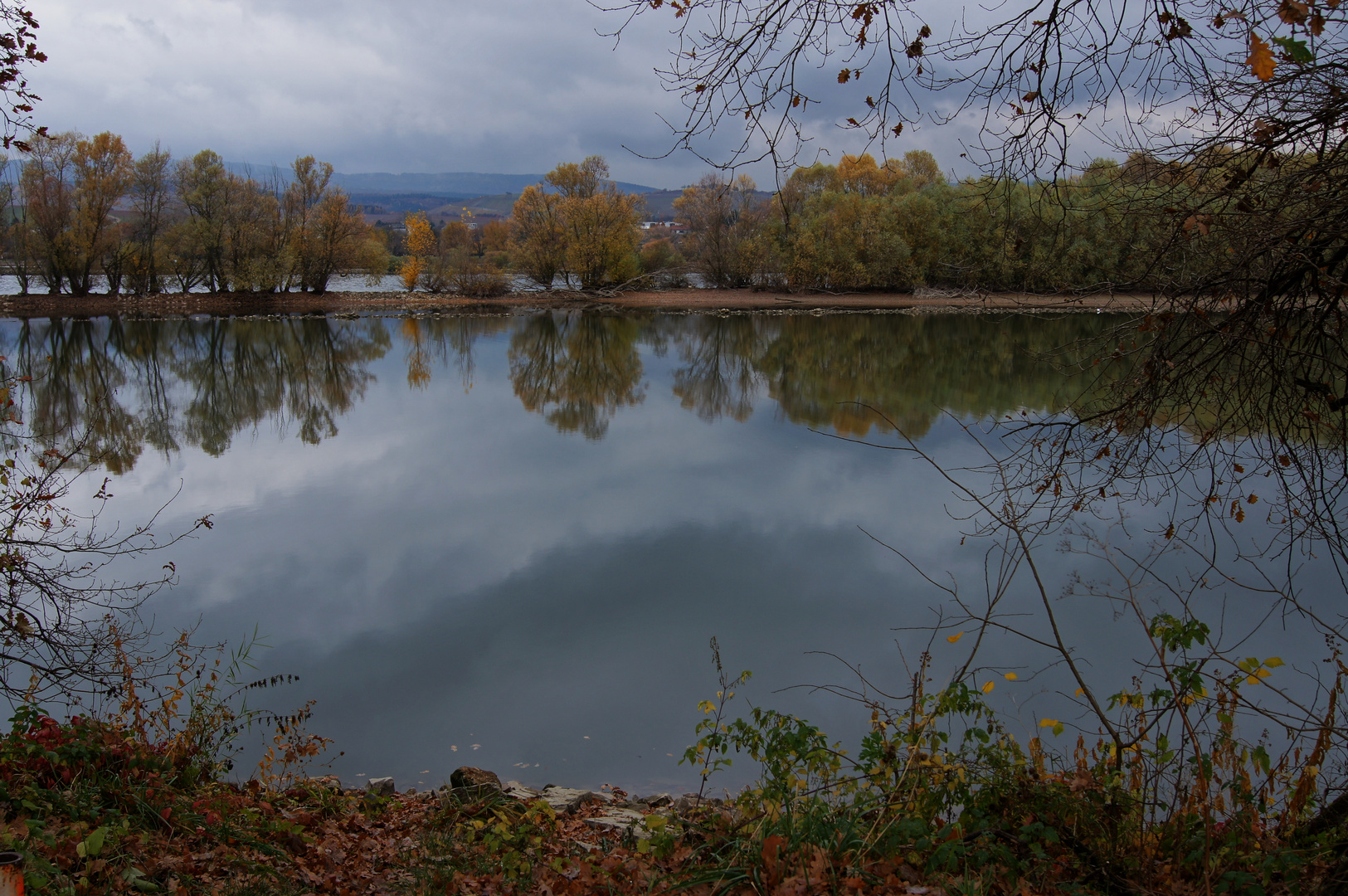 Rheinarm bei Heidefahrt