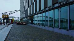 Rheinbrücke im Fassadenspiel