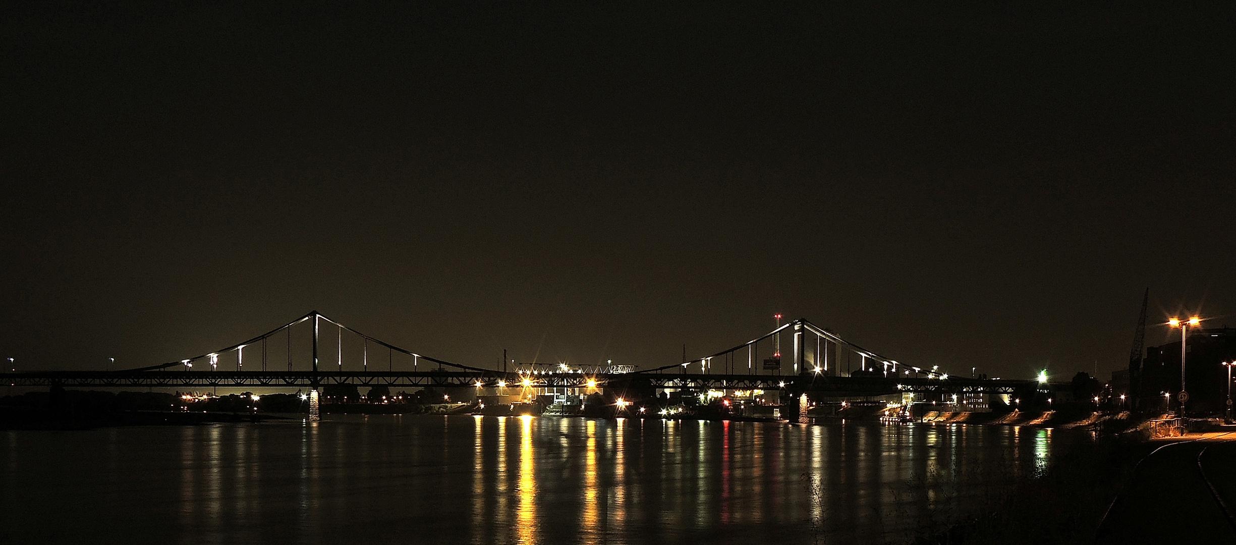 Rheinbrücke und Hafen Krefeld-Uerdingen