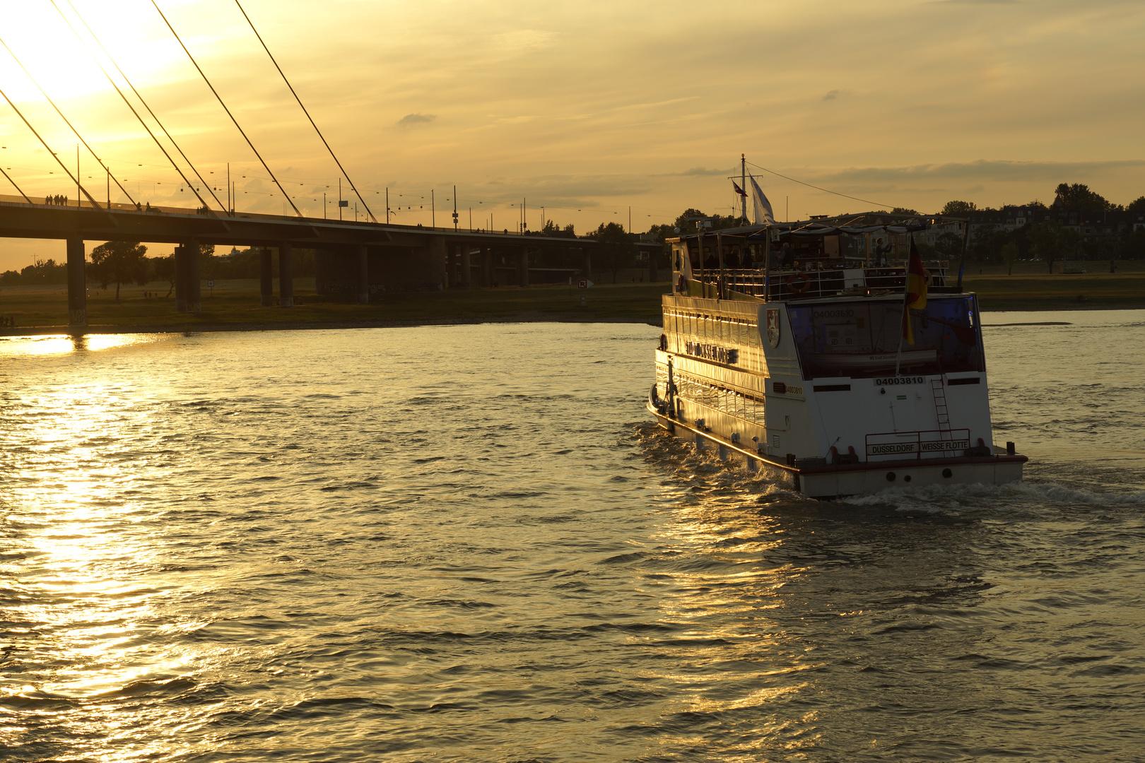Rheindampfer in Düsseldorf