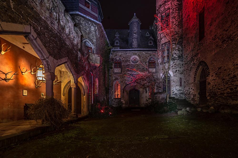 Rheinleuchten 2016 - Burg Lahneck, innerer Burgbereich