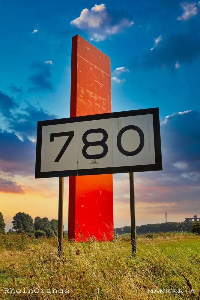 Rheinorange bei Km 780