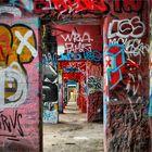 Rheinpark und seine Graffitis ....
