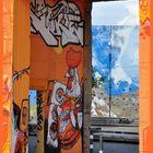 Rheinparkcenter Duisburg - Graffiti - Toreingang