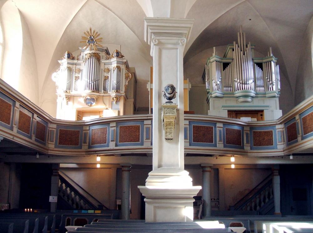 Rheinsberg Marktkirche, Orgelempore