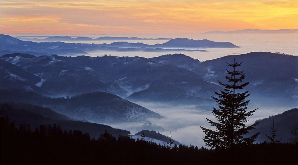 Rheintal im Nebelmeer