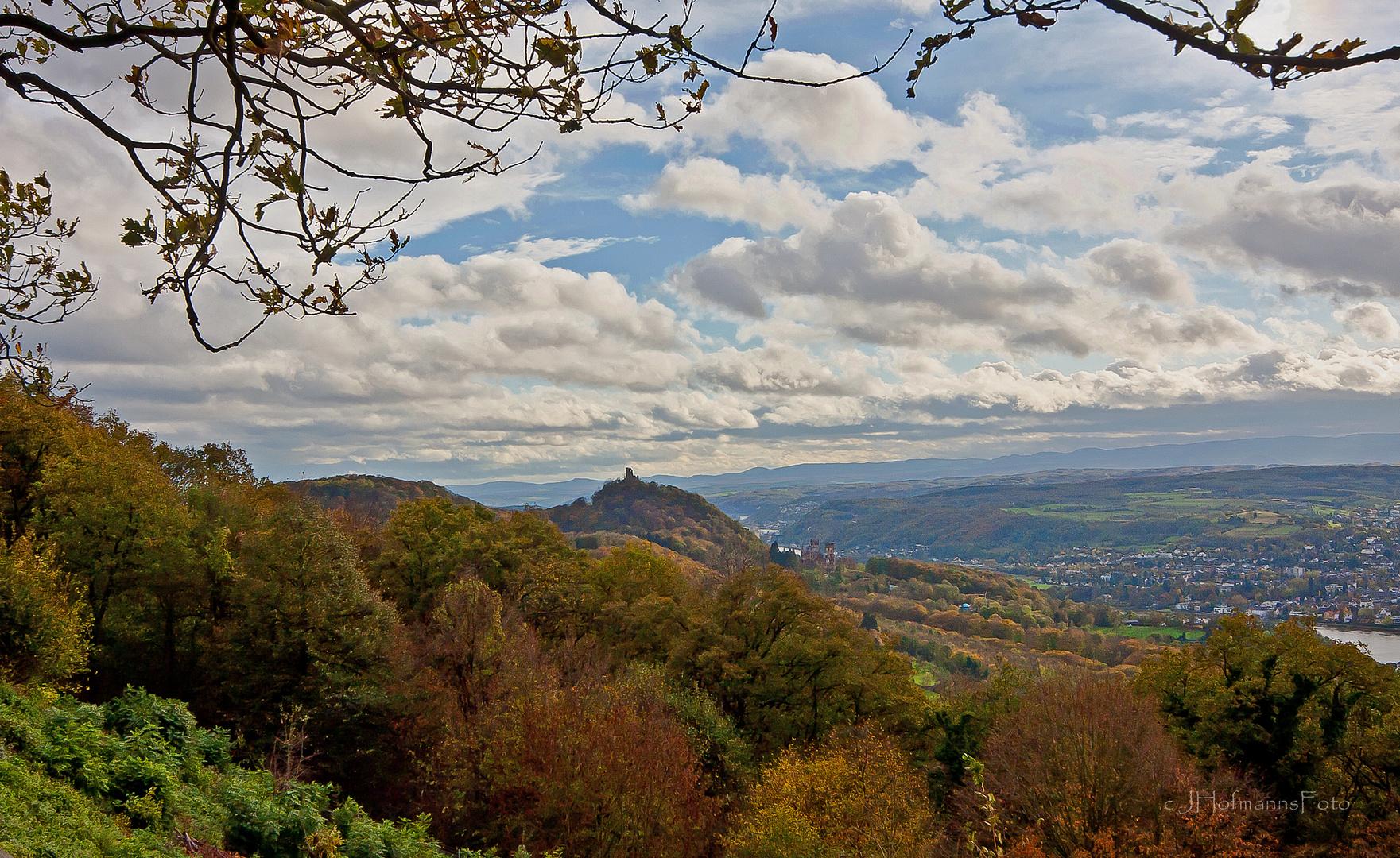 Rheintal vom Petersberg gen Süden im November