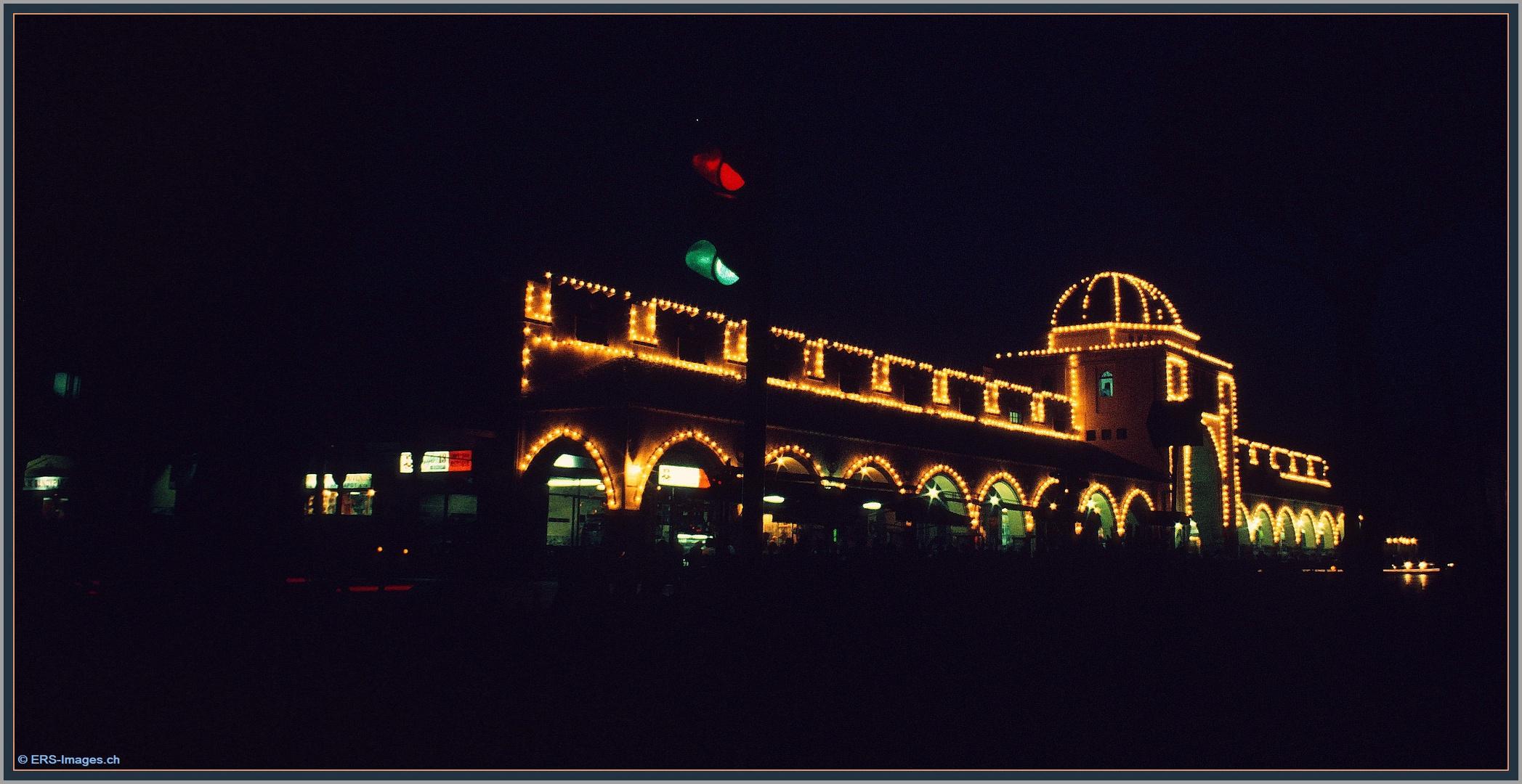 Rhodos Nea Agora, New Market by night July 1978 ©
