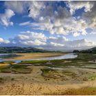 Ría de Villaviciosa , Asturien, Spanien