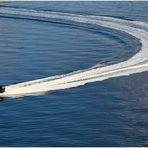 RIB Boot fahren auf dem OSLO-Fjord