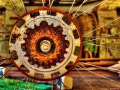 "Richard A. Cox: ""Rad-Mandala - Homage to the wheel"" (Ausschnitt)"