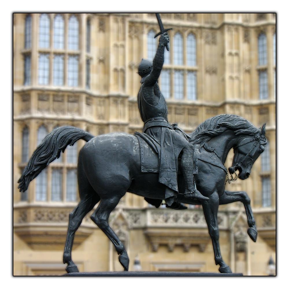 Richard Löwenherz vor der Westminster Hall