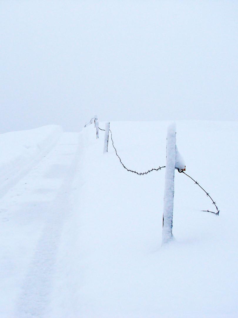 richtig viel schnee