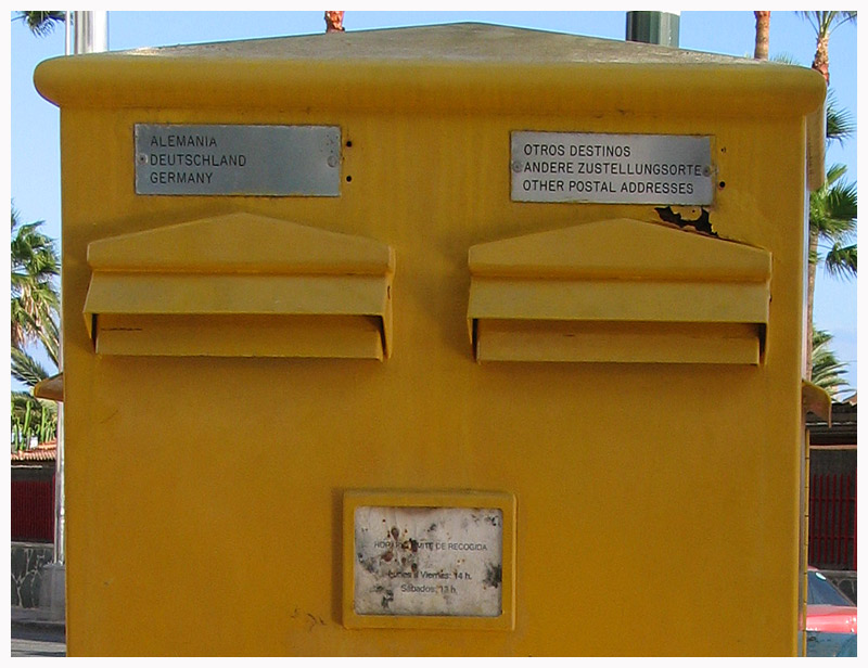 Richtungsbriefkasten