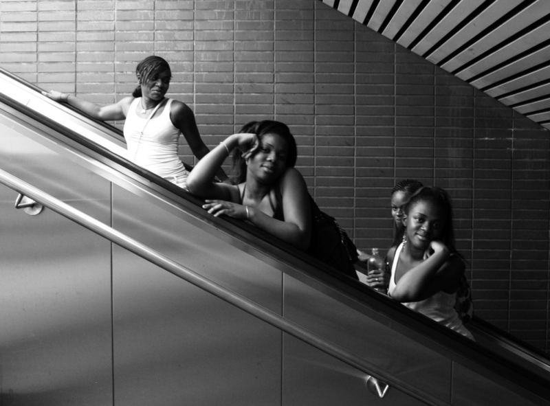 Ride the escalator with grace