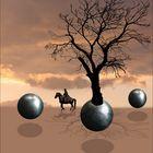 Rider, balls and a tree