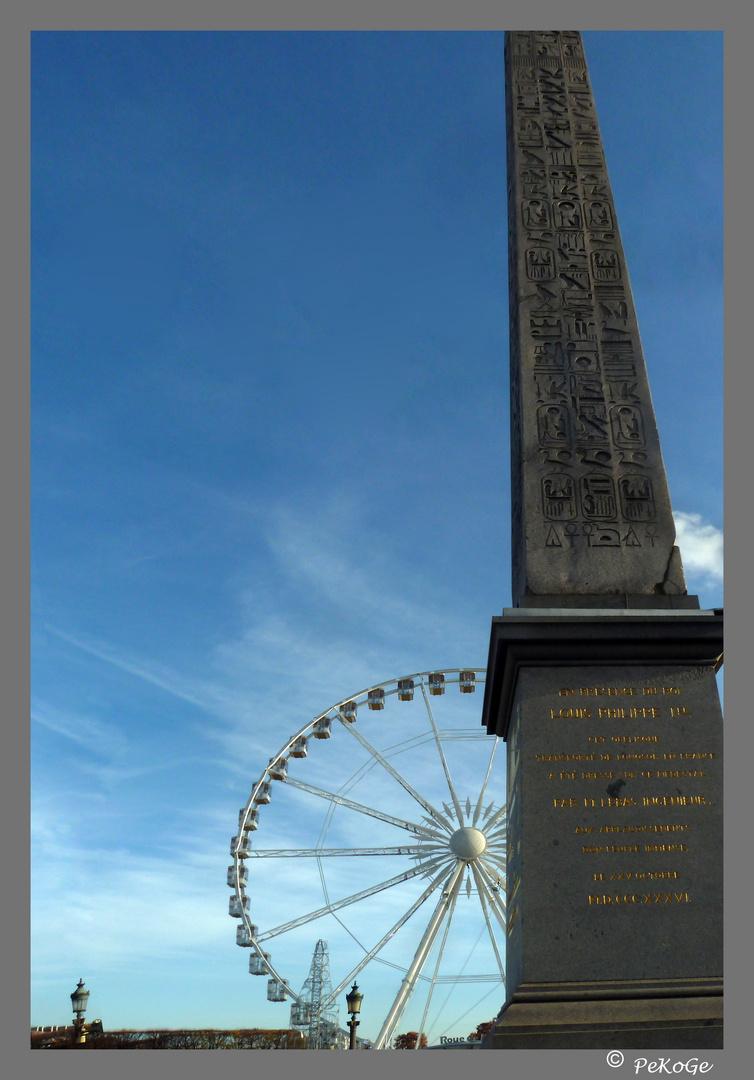 Riesenrad am Place de la Concorde