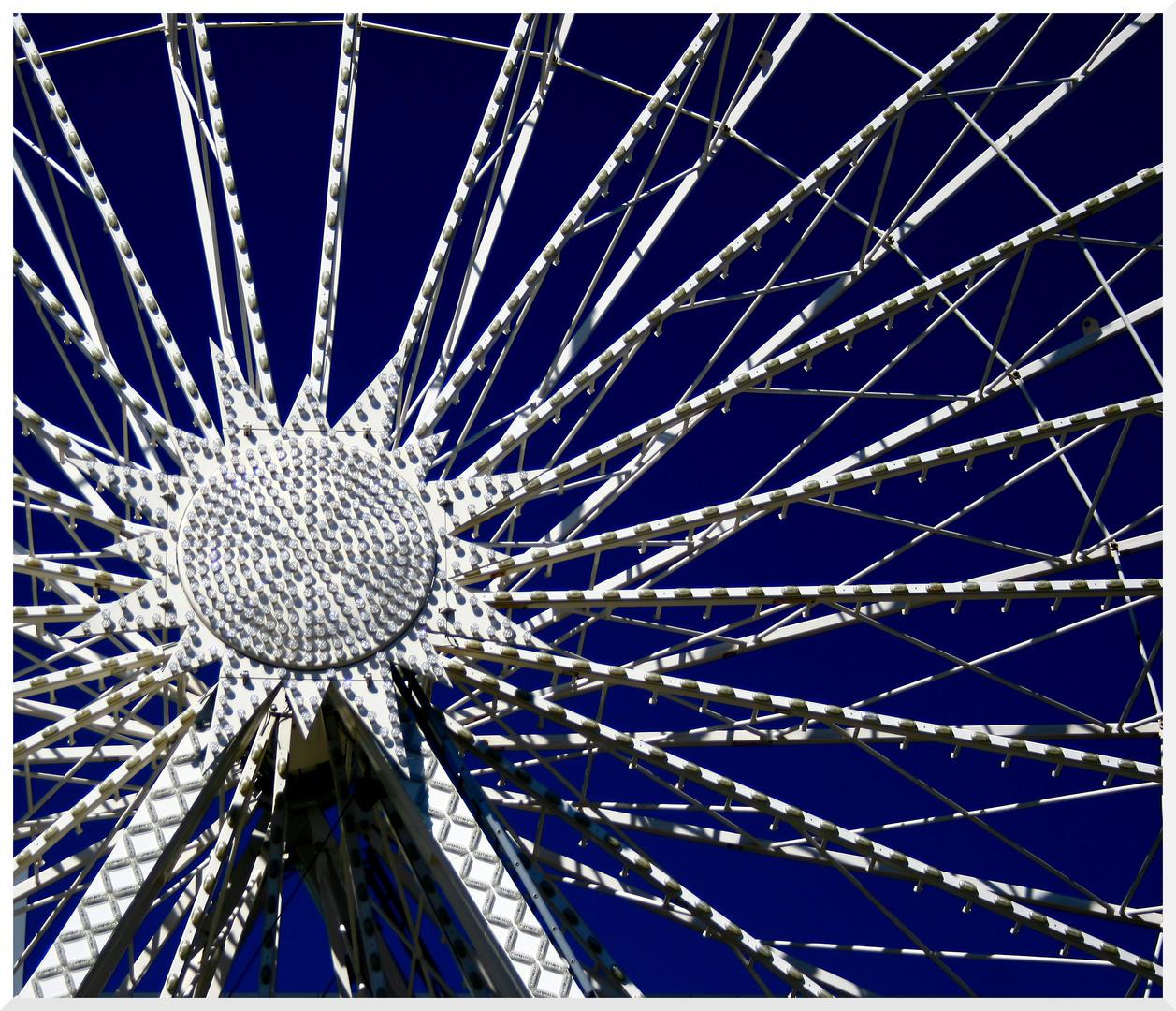 Riesenrad Blau/Weiß