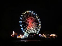 Riesenrad in Stadthagen bei Nacht